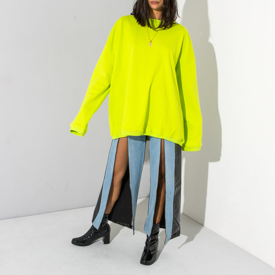 Neon Green Oversized Sweat*