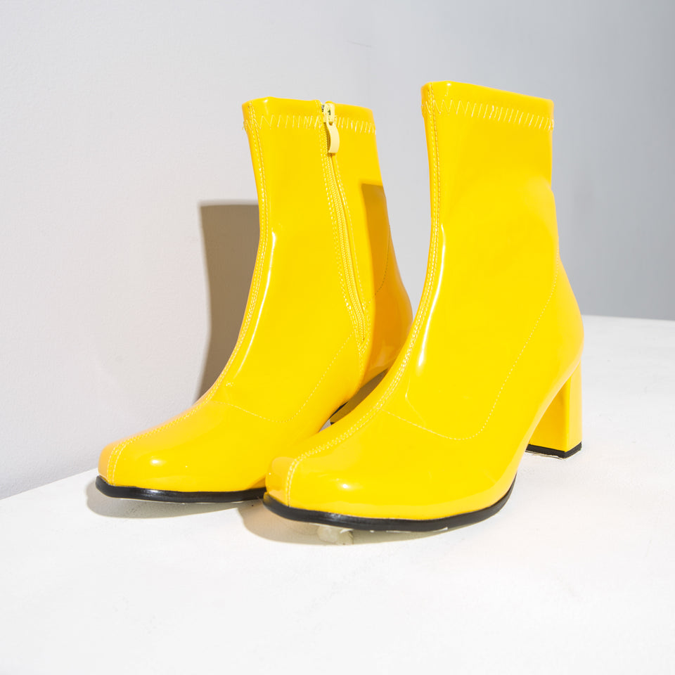 Various Coloured Patent Ankle Boots*