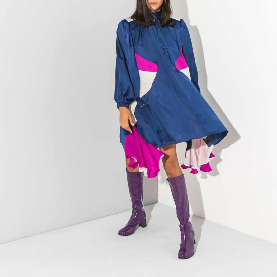 Colour Block A-Line Dress*