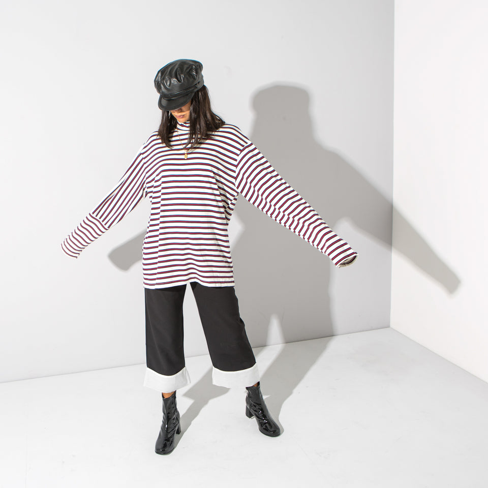 Red Striped Roll Neck*