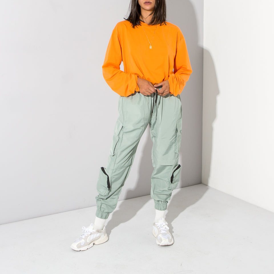 Green Multi Pocket Track Pant*