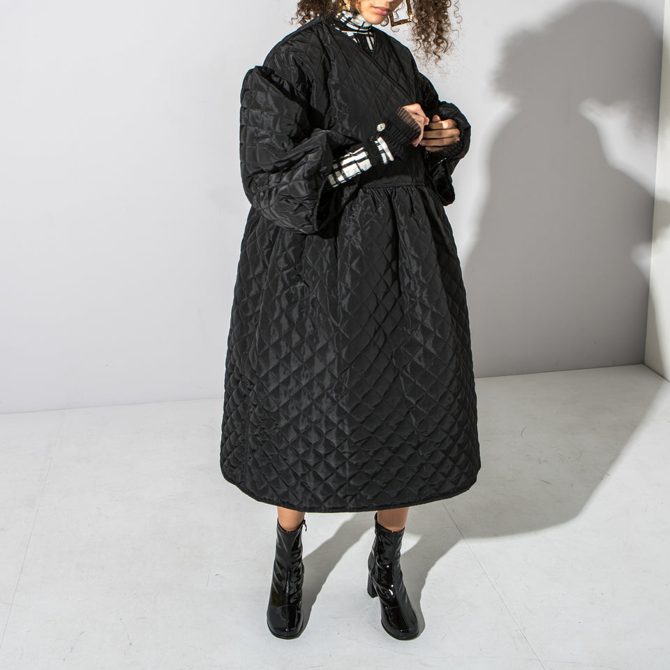 Black Quilted Dress*