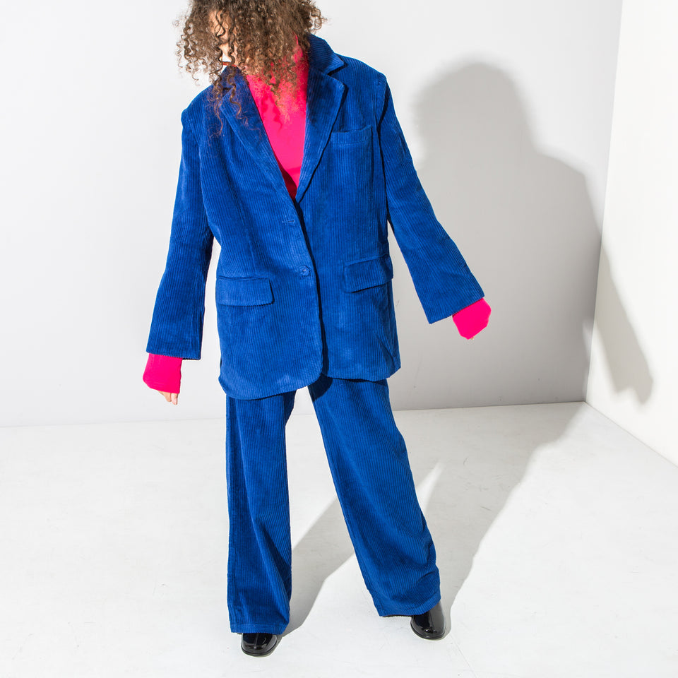 Blue Corduroy Suit Jacket*