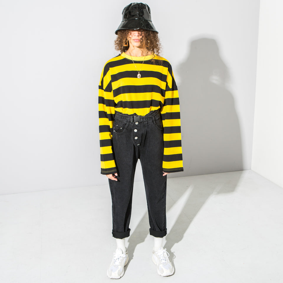Oversized Yellow Striped Long Sleeve*