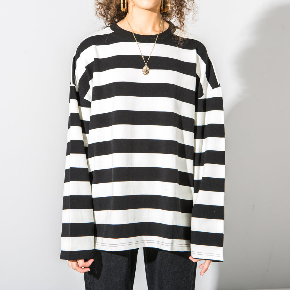 Black And White Striped Long Sleeve*