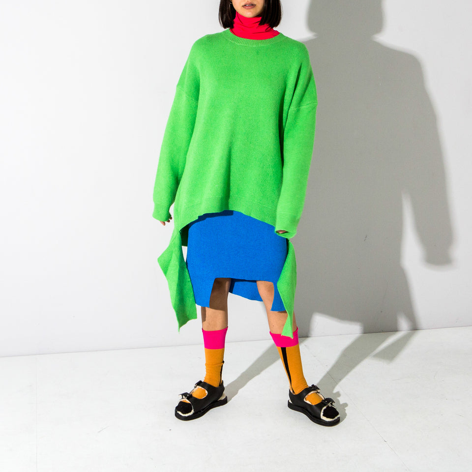 Oversized Green Knitted Jumper*