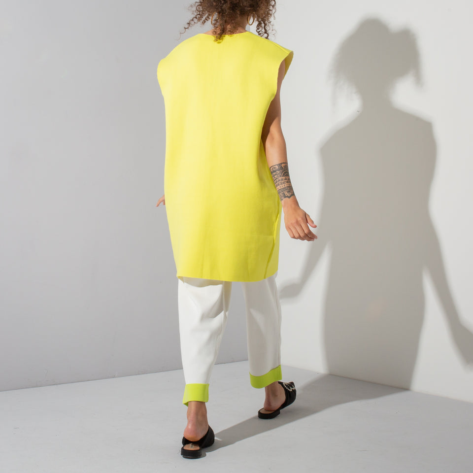 Yellow/White Vest and Trouser Set*