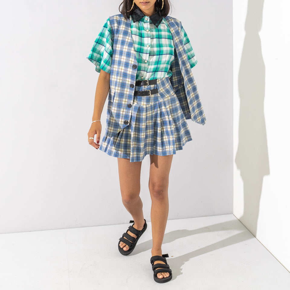 Green and Blue Checked Shirt*