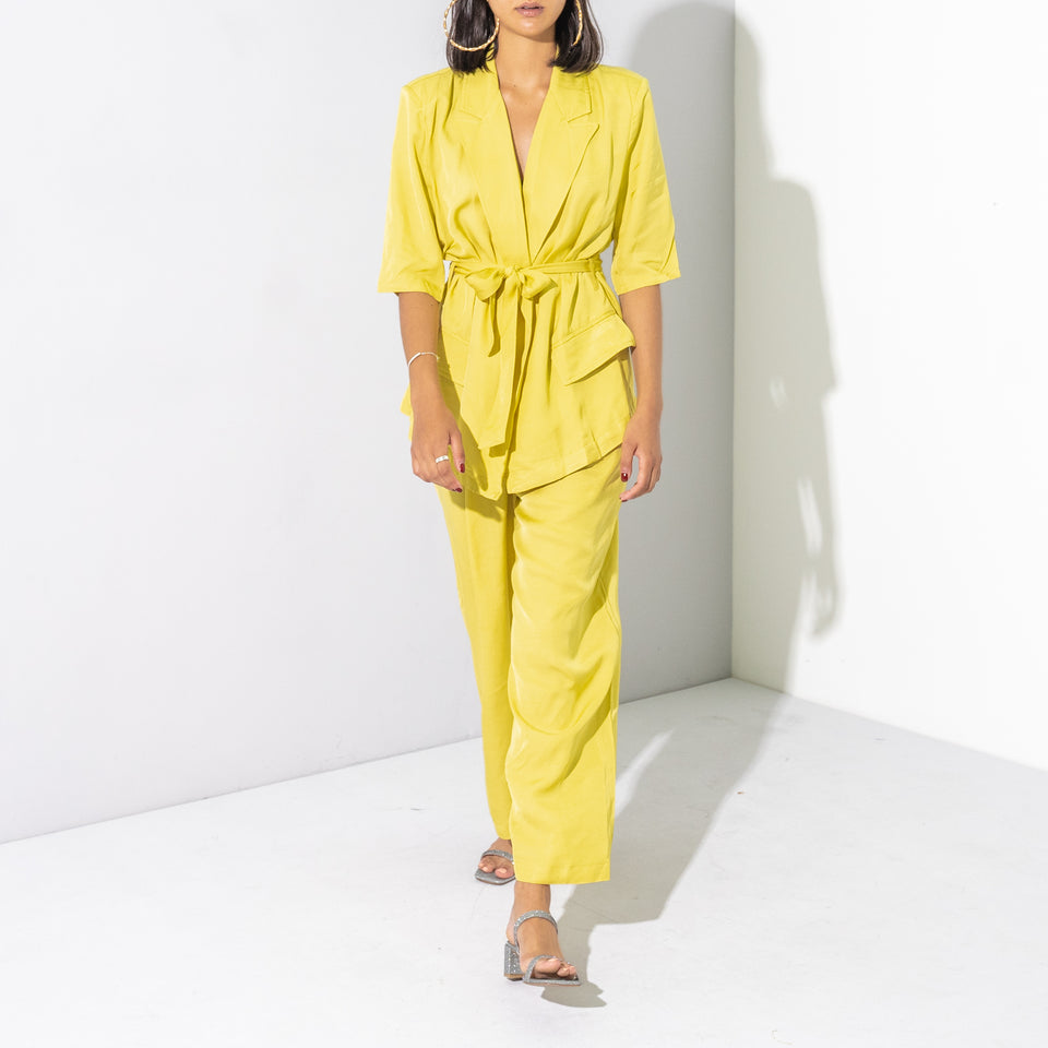 Yellow 2 Piece Trouser Suit**