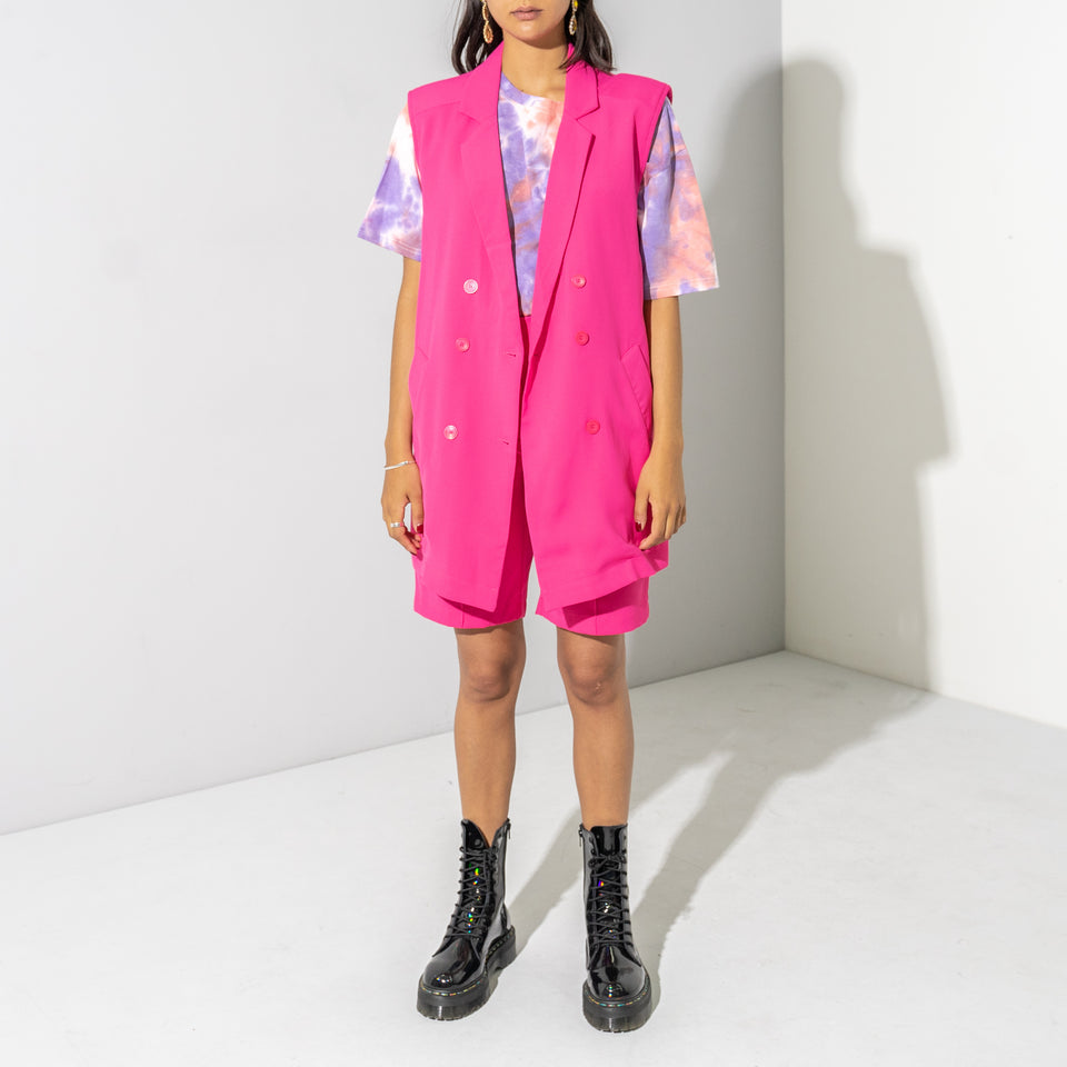 Fuchsia Shorts Suit*