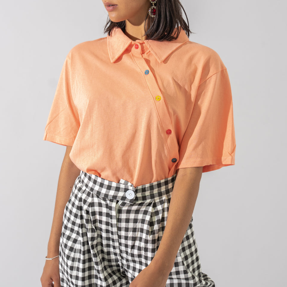 Orange Collared T-Shirt*