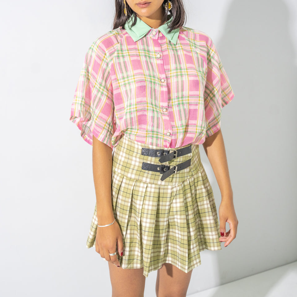Pink and Green Checked Shirt*