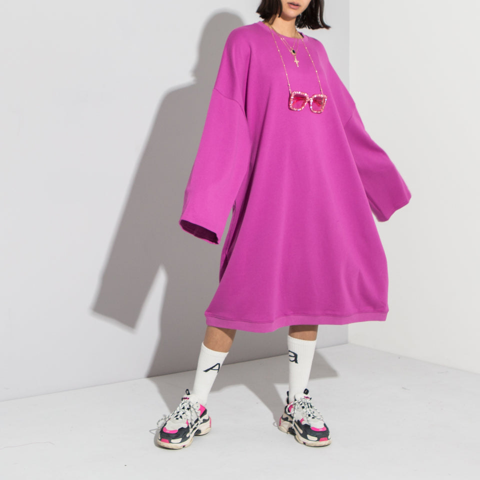 Supersized Pink Sweater Dress**