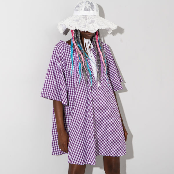 Purple Gingham Dress*