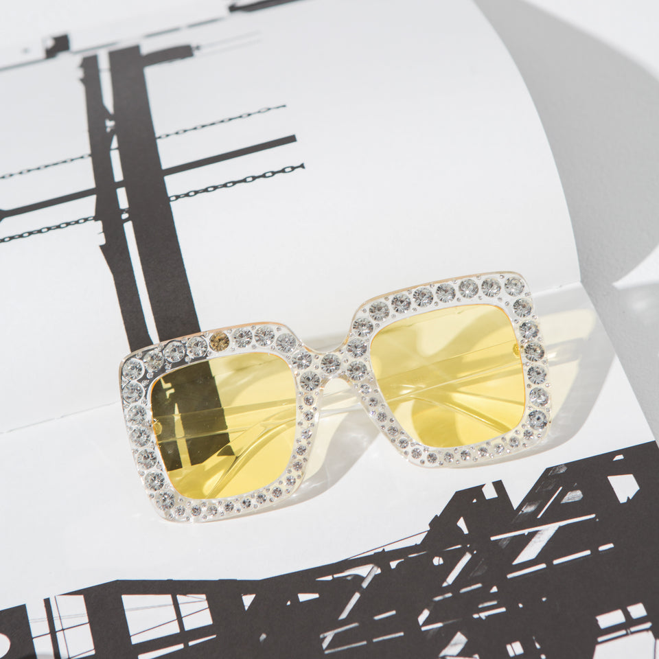 Square Gem Sunglasses**