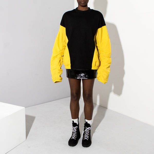 XXL Yellow Sleeve Sweat**