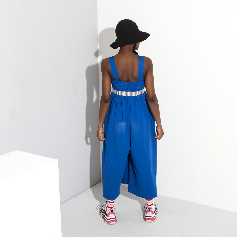 Blue Wide Leg Jumpsuit**