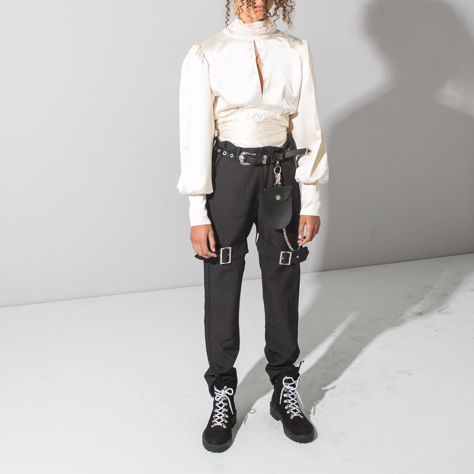 Leg Buckle Trousers*