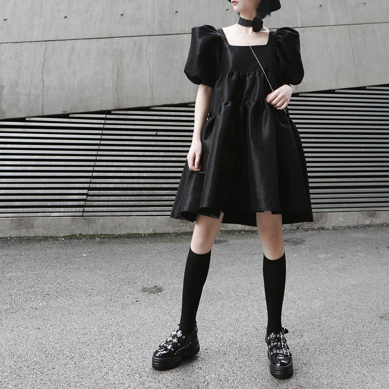 Black Martha Dress*