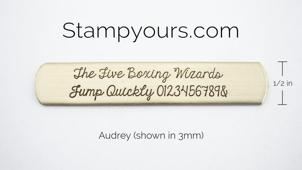 Audrey ( 2.5mm - 5.5mm ) - Stamp Yours