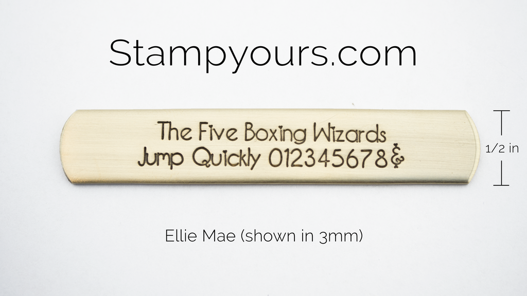 Ellie Mae ( 2.5mm - 5mm ) - Stamp Yours