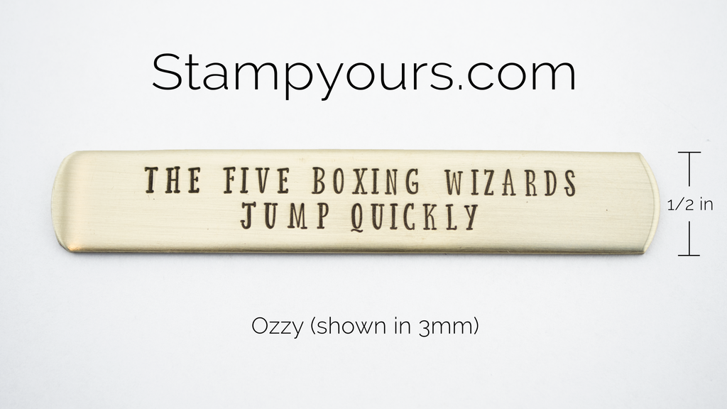 Ozzy ( 2.5mm - 6mm ) - Stamp Yours