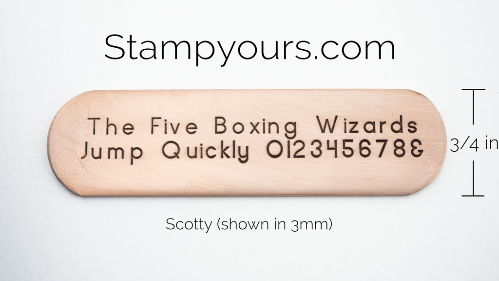 Scotty ( 1.5mm - 6mm ) - Stamp Yours