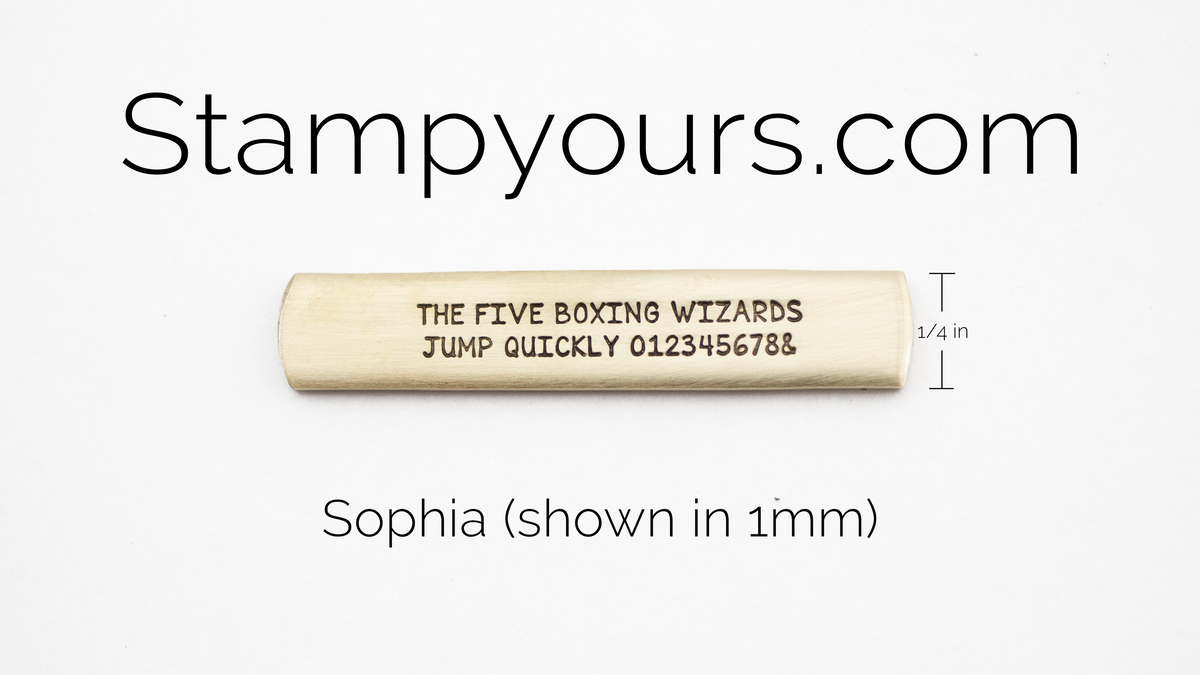 Sophia ( 1mm ) - Stamp Yours