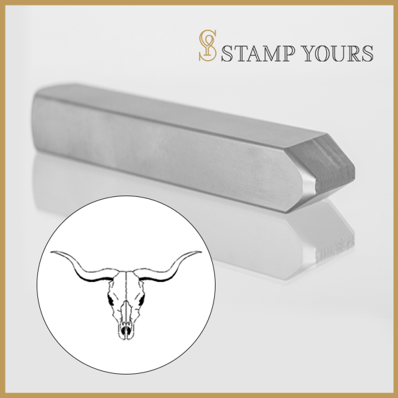 Longhorn Metal Stamp - Stamp Yours