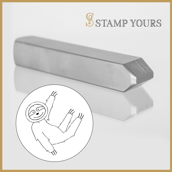 Sloth Metal Stamp - Stamp Yours