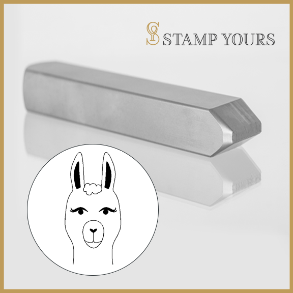 Llama Head Metal Stamp - Stamp Yours