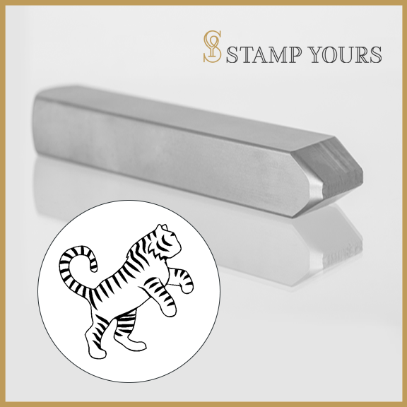 Tiger Zodiac Animal Metal Stamp - Stamp Yours