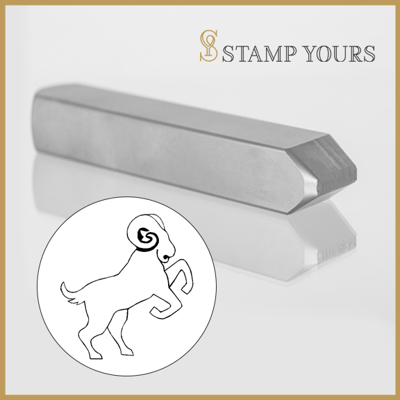 Ram Zodiac Animal Metal Stamp - Stamp Yours
