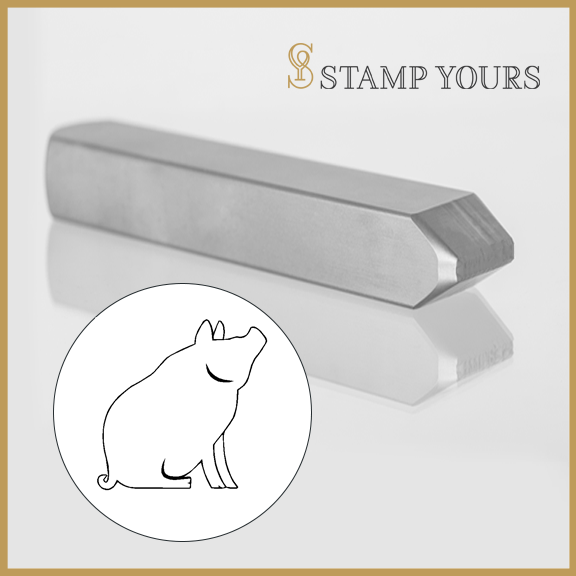 Pig Zodiac Animal Metal Stamp - Stamp Yours