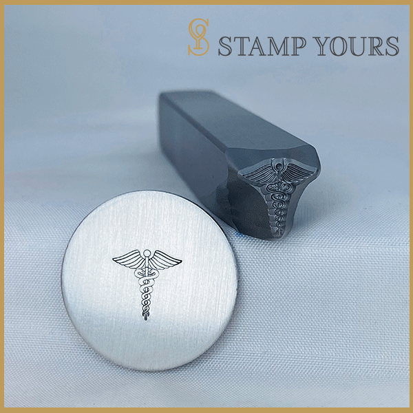 Caduceus Medical Alert Symbol Metal Stamp - Stamp Yours