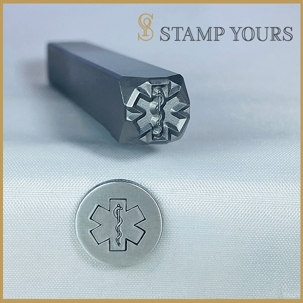 Star of Life Medical Alert Symbol Metal Stamp - Stamp Yours