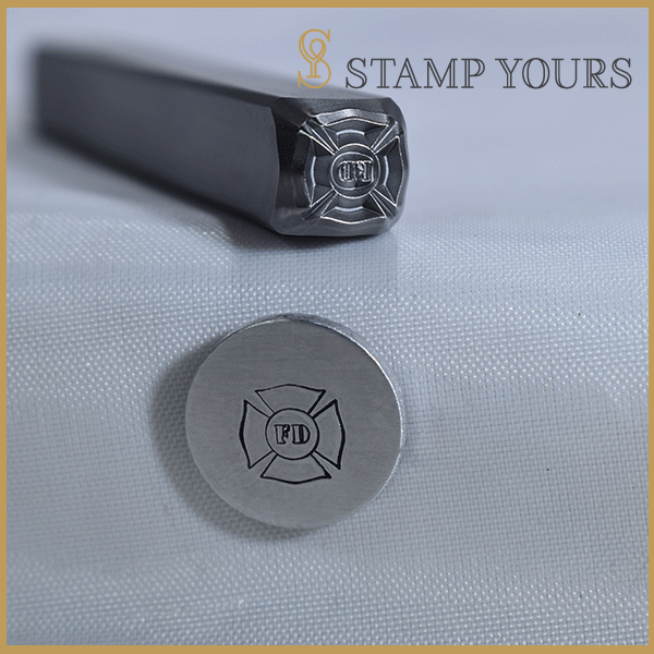 Fireman Badge Metal Stamp - Stamp Yours