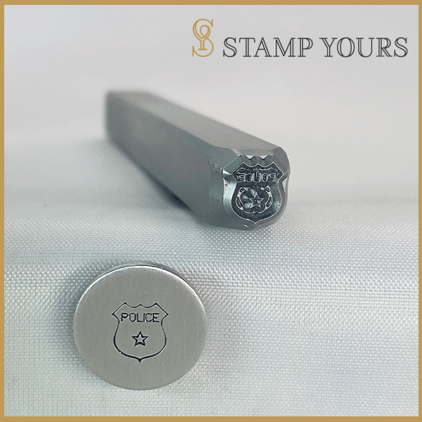 Police Badge Metal Stamp - Stamp Yours