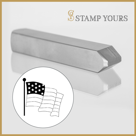Waving Flag Metal Stamp - Stamp Yours