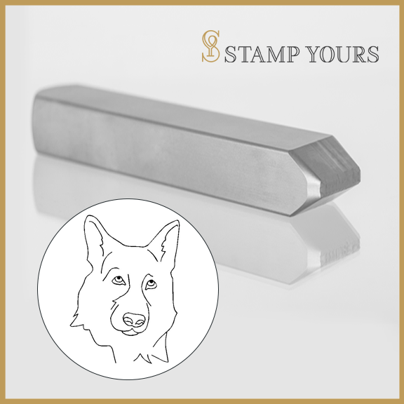 German Shepherd Metal Stamp - Stamp Yours
