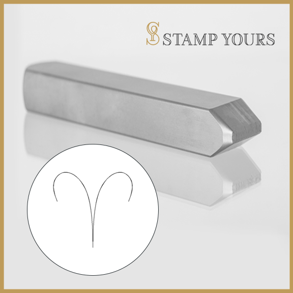 Aries Symbol Metal Stamp - Stamp Yours