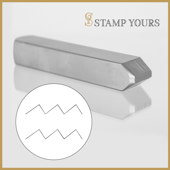 Aquarius Symbol Metal Stamp - Stamp Yours