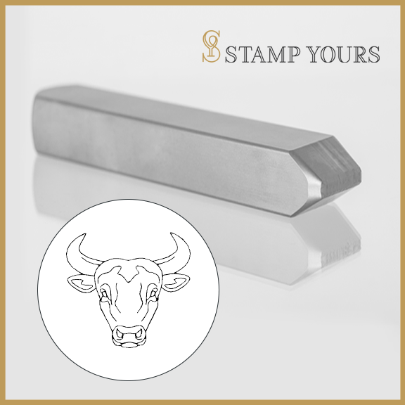 Taurus  Sign Icon Metal Stamp - Stamp Yours