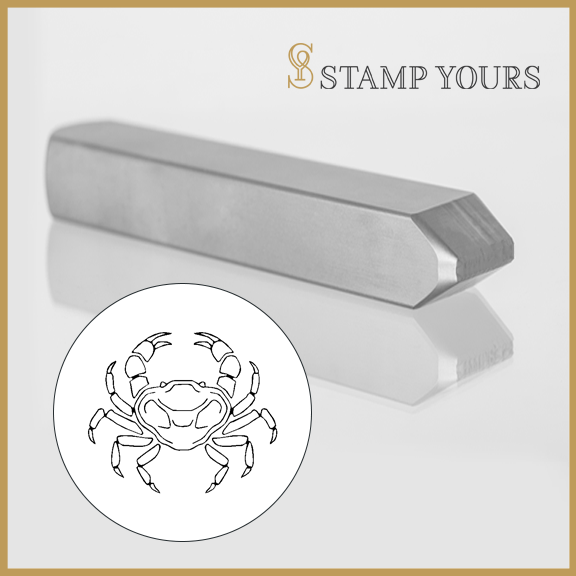 Cancer Sign Icon Metal Stamp - Stamp Yours