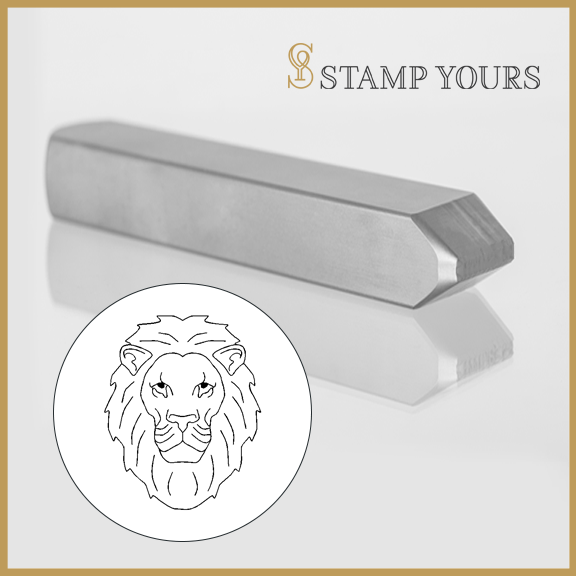 Leo Sign Icon Metal Stamp - Stamp Yours