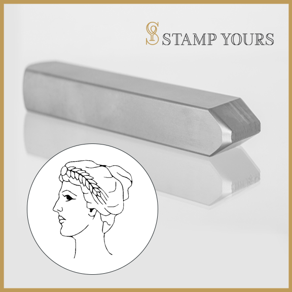 Virgo Sign Icon Metal Stamp - Stamp Yours