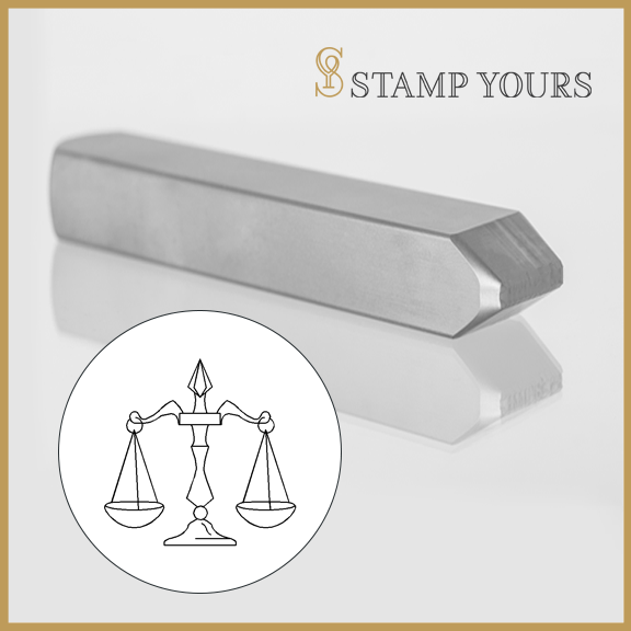 Libra Sign Icon Metal Stamp - Stamp Yours