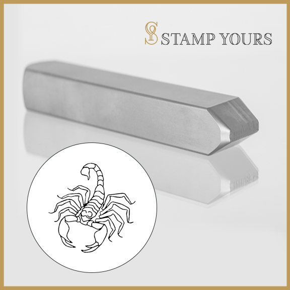 Scorpio Sign Icon Metal Stamp - Stamp Yours