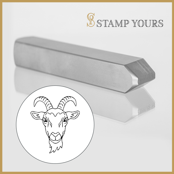 Capricorn Sign Icon Metal Stamp - Stamp Yours
