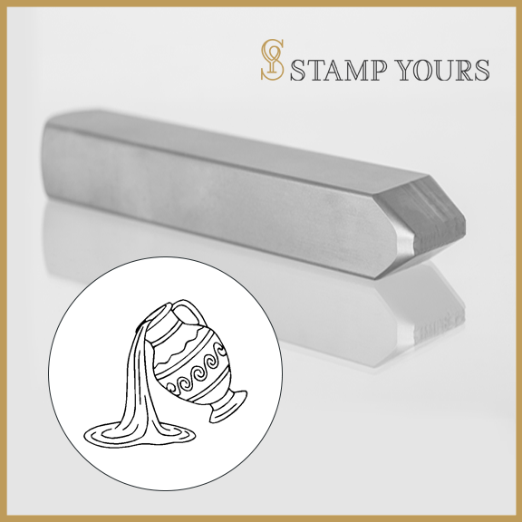 Aquarius Sign Icon Metal Stamp - Stamp Yours